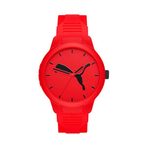 Reloj Puma Reset Hombre P5003 Correa silicona roja