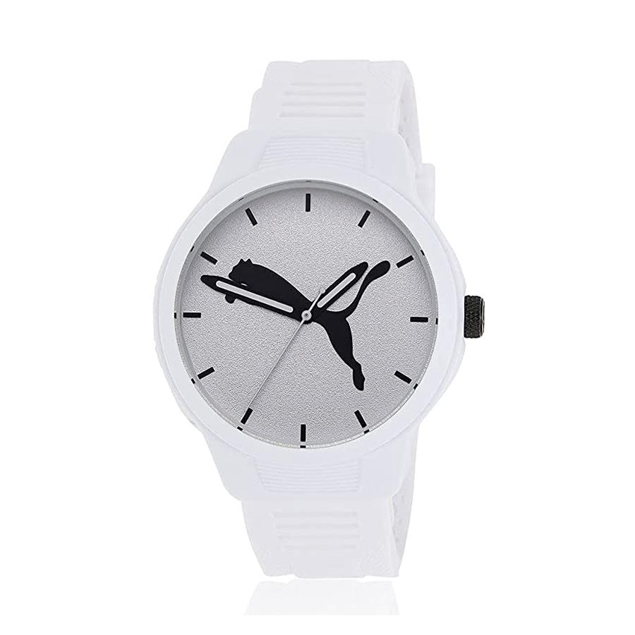 Reloj Puma Reset Hombre P5012 Analógico correa silicona blanca