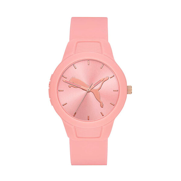 Reloj Puma Reset Mujer P1023 Analógico correa silicona rosa