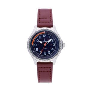 Reloj Radiant Adriano Hombre RA501601 Acero con esfera azul y naranja con correa piel marrón
