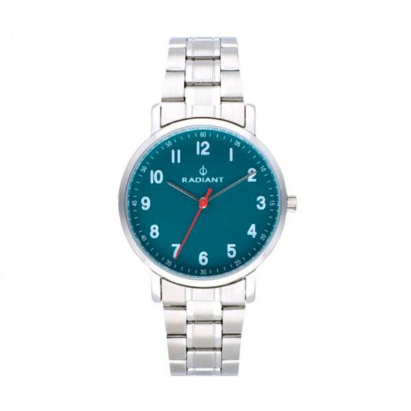 Reloj Radiant Antonello Hombre RA500202 Acero esfera verde con aguja roja