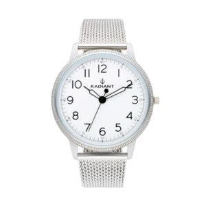 Reloj Radiant Antonie Hombre RA490601 Acero plata con esfera blanca y correa malla milanesa plata