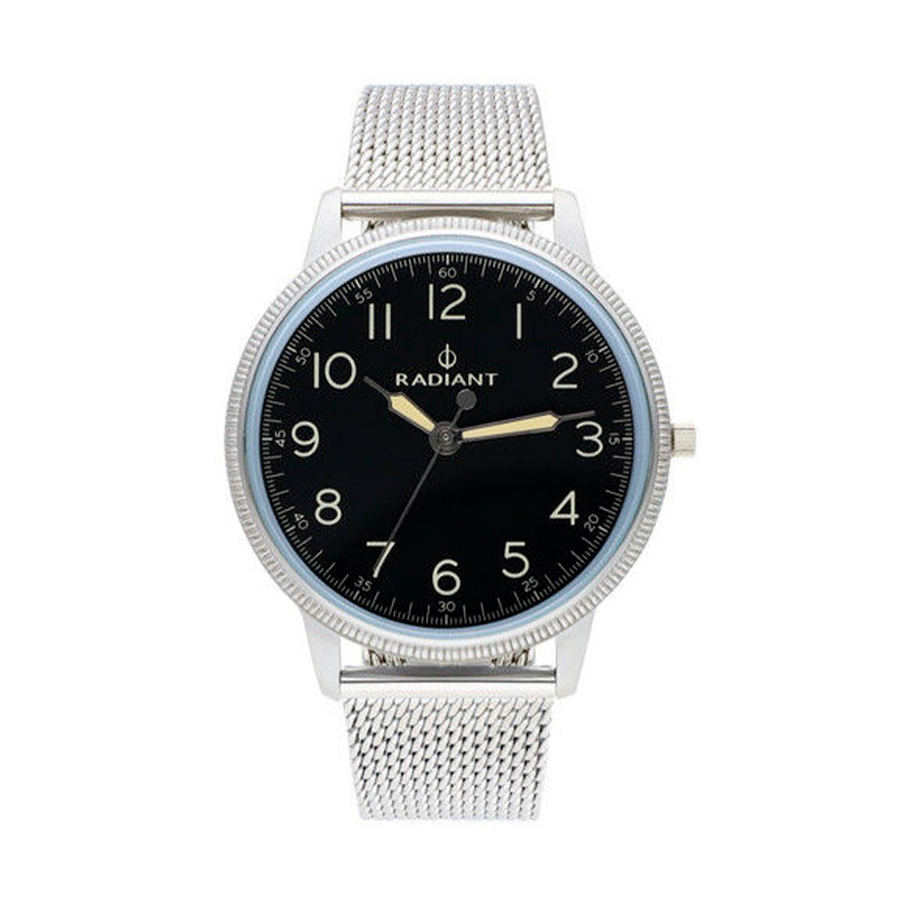 Reloj Radiant Antonie Hombre RA490602 Acero plata con esfera negra y correa malla milanesa plata