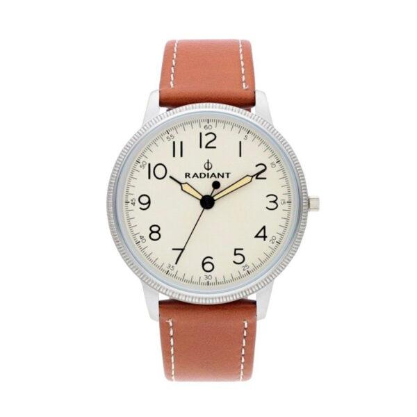 Reloj Radiant Antonie Hombre RA490604 Acero esfera beige y correa piel marrón