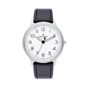 Reloj Radiant Antonie Hombre RA490605 Acero plata con esfera blanca y correa piel negra