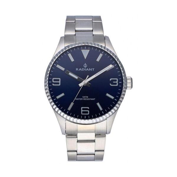 Reloj Radiant Bagley Hombre RA536201 Acero con esfera azul y bisel gallonado
