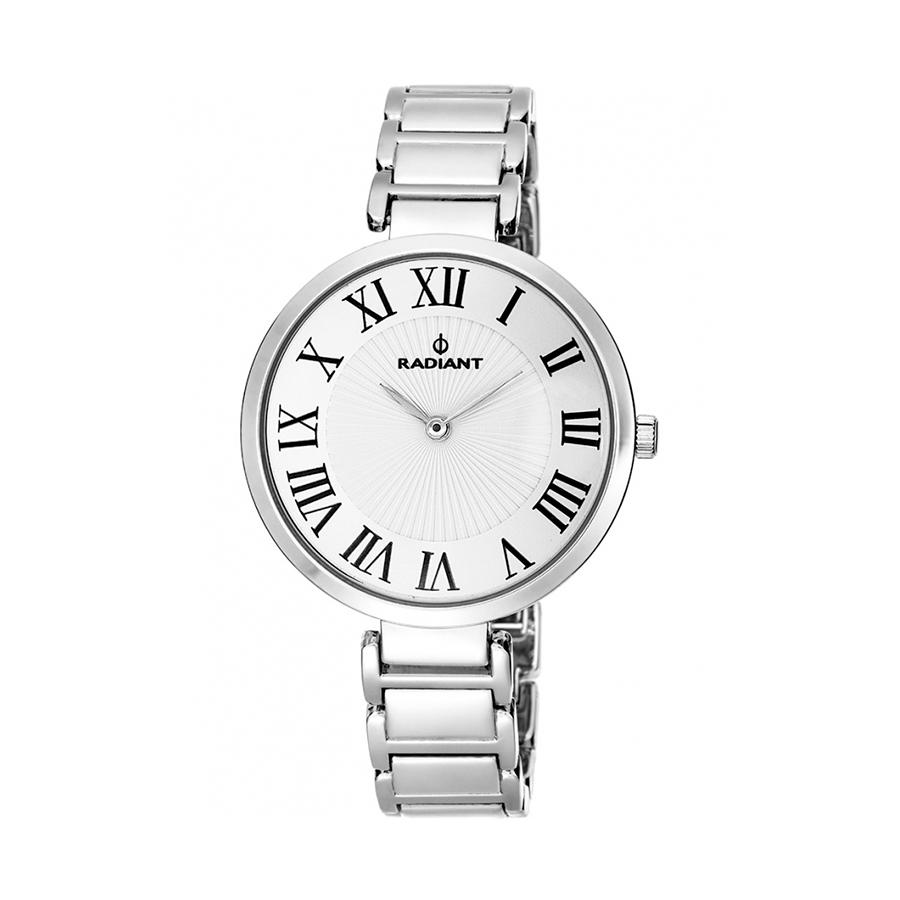 Reloj Radiant Ballroom Mujer RA461201 Acero plata con esfera blanca e índices romanos
