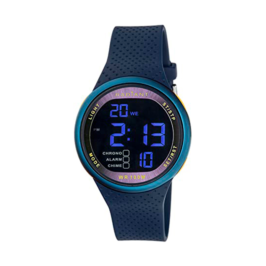 Reloj Radiant Best Time Hombre RA445601 Deportivo digital azul con correa caucho