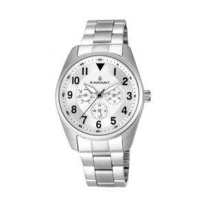 Reloj Radiant Brooklyn Hombre RA454202 Acero plata con esfera blanca y agujas luminiscentes