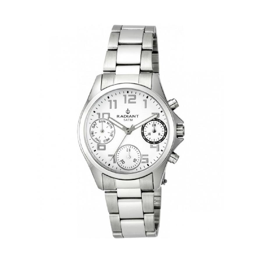 Reloj Radiant Cadette Hombre RA385703 Acero con esfera blanca y detalles negros