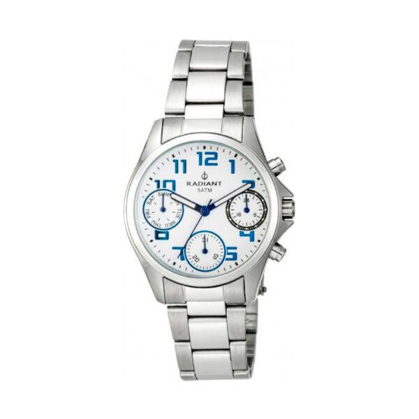 Reloj Radiant Cadette Hombre RA385704 Acero con esfera blanca y detalles azules
