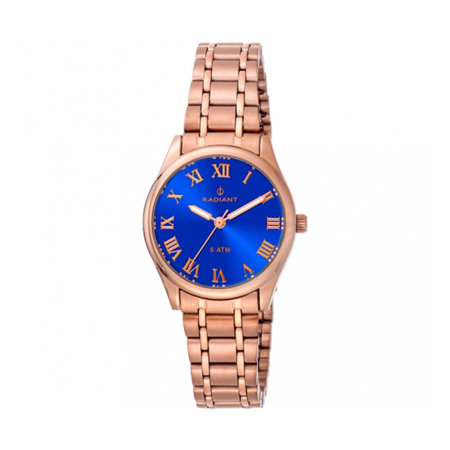 Reloj Radiant Divinity Mujer RA366206 Acero rosado con esfera azul