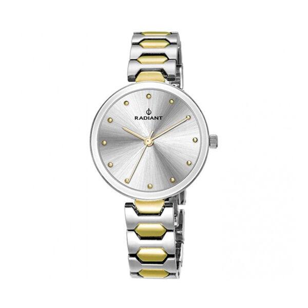 Reloj Radiant Dressy Mujer RA443204 Acero bicolor dorado y plata con esfera plata