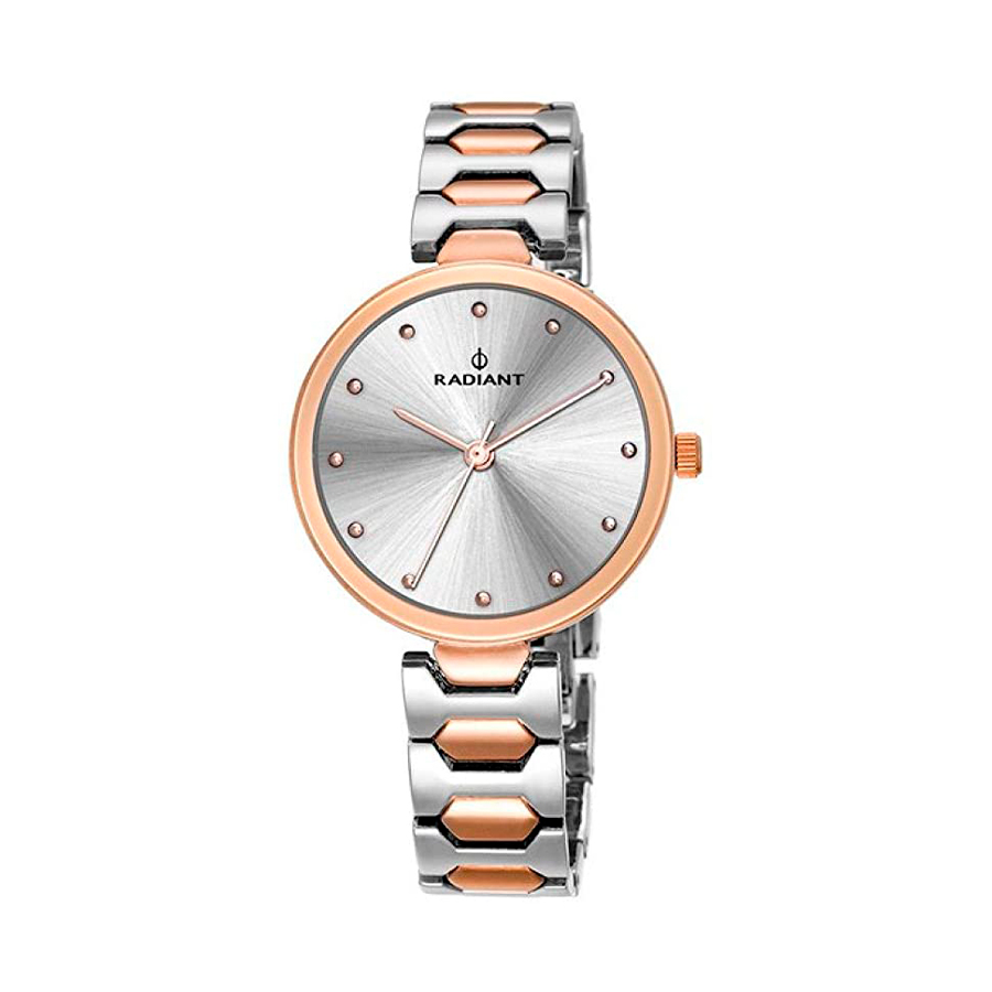 Reloj Radiant Dressy Mujer RA443205 Acero bicolor rosado y plata con esfera plata