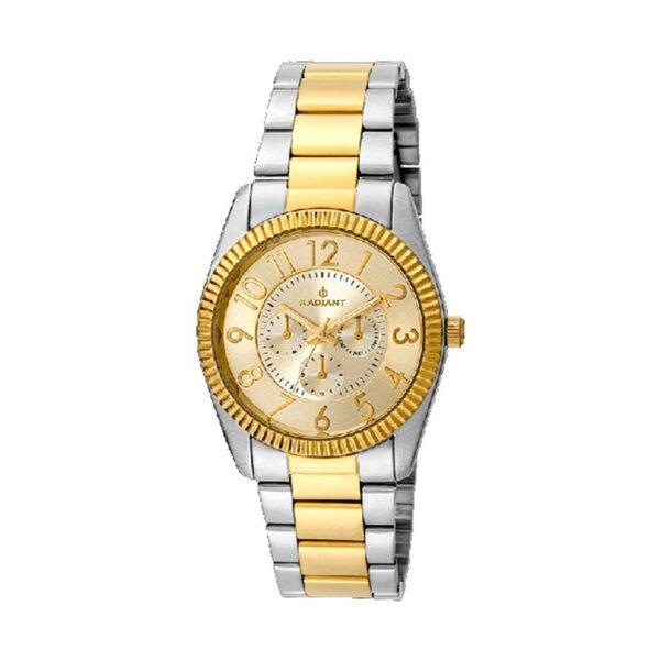 Reloj Radiant Eighties Mujer RA380204 Acero bicolor dorado y plata con calendario y bisel gallonado