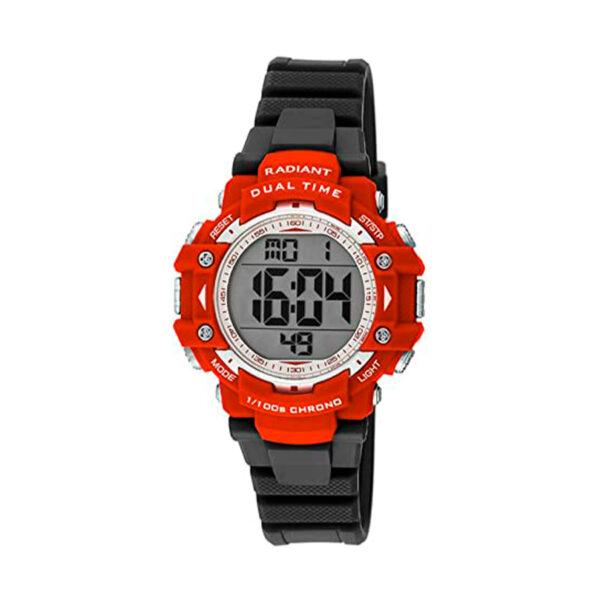 Reloj Radiant Friend Hombre RA397602 Deportivo con esfera roja con detalles blancos y correa caucho negra