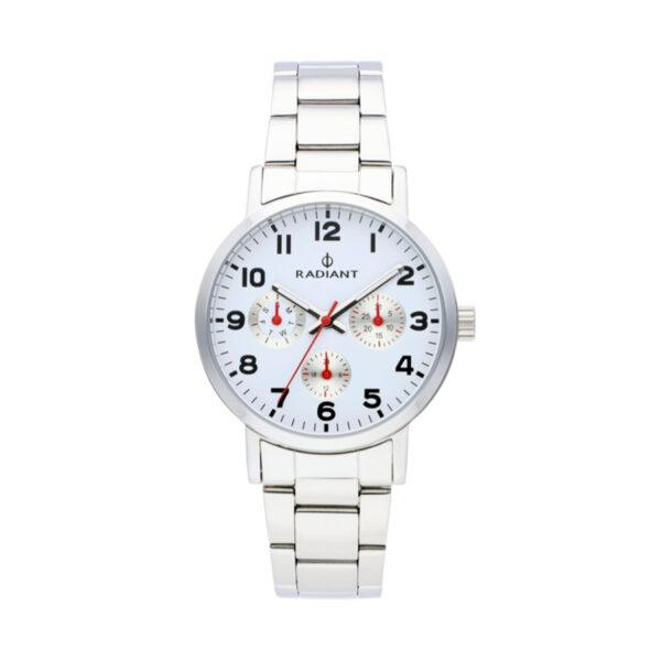 Reloj Radiant Funtime Hombre RA448706 Acero con esfera blanca y detalles en rojo