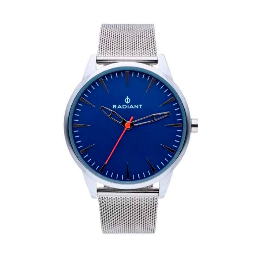 Reloj Radiant Golem Hombre RA518601 Acero con esfera azul y correa malla milanesa acero