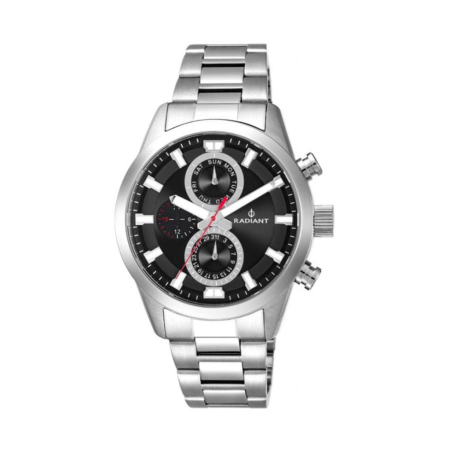 Reloj Radiant Guardian Hombre RA479702 Acero con esfera negra y detalles rojo