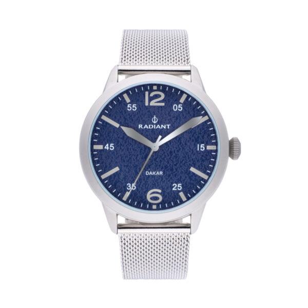 Reloj Radiant Harald Hombre RA504604 Acero con esfera azul y correa malla milanesa plata