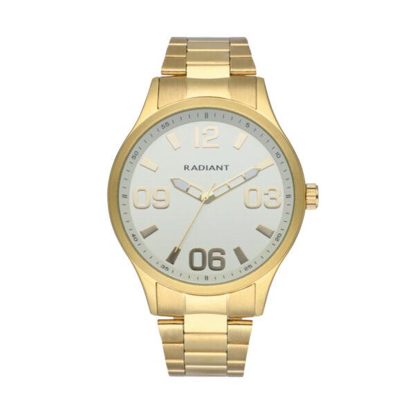 Reloj Radiant Leader Hombre RA563201 Acero dorado con esfera blanca