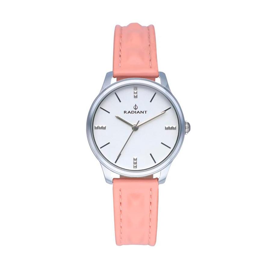 Reloj Radiant Leya Mujer RA520601 Acero con esfera blanca y correa piel rosa