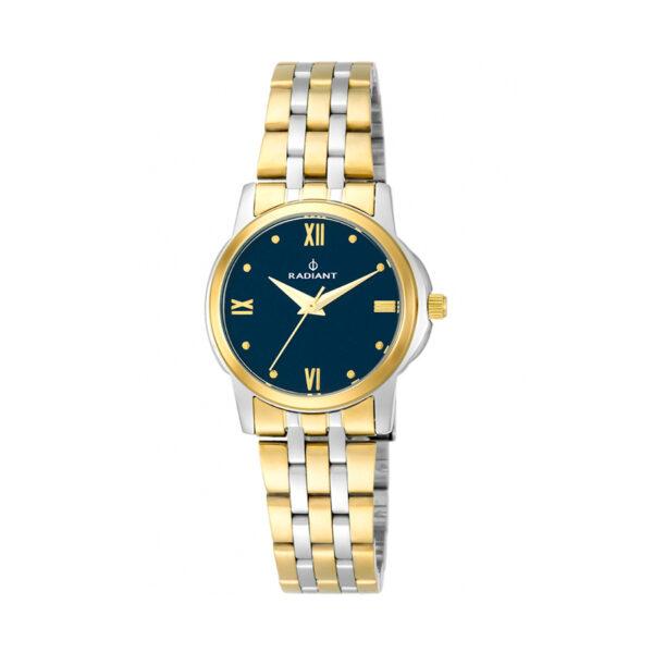 Reloj Radiant London Mujer RA453203 Acero bicolor dorado y plata con esfera azul