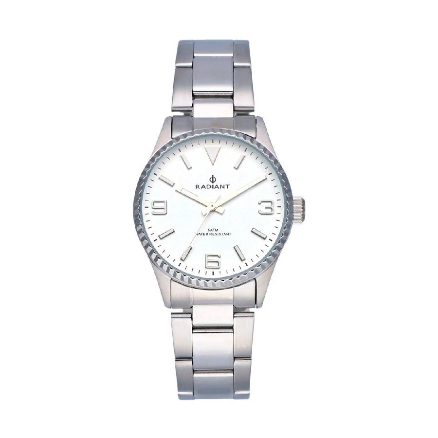 Reloj Radiant Mulan Mujer RA537201 Acero con esfera blanca y agujas luminiscentes