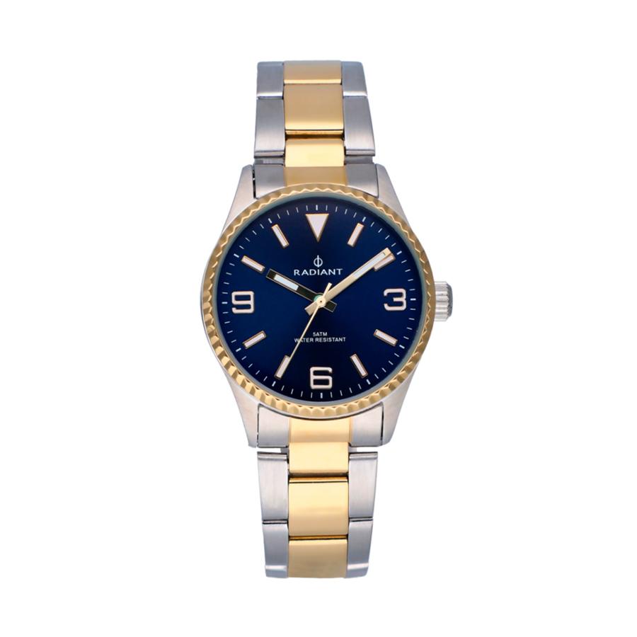 Reloj Radiant Mulan Mujer RA537202 Acero bicolor dorado y plata con esfera azul