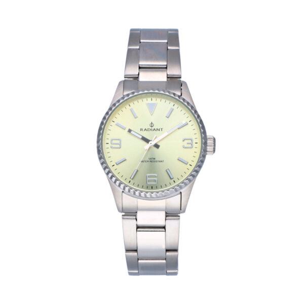 Reloj Radiant Mulan Mujer RA537204 Acero con esfera beige y agujas luminiscentes
