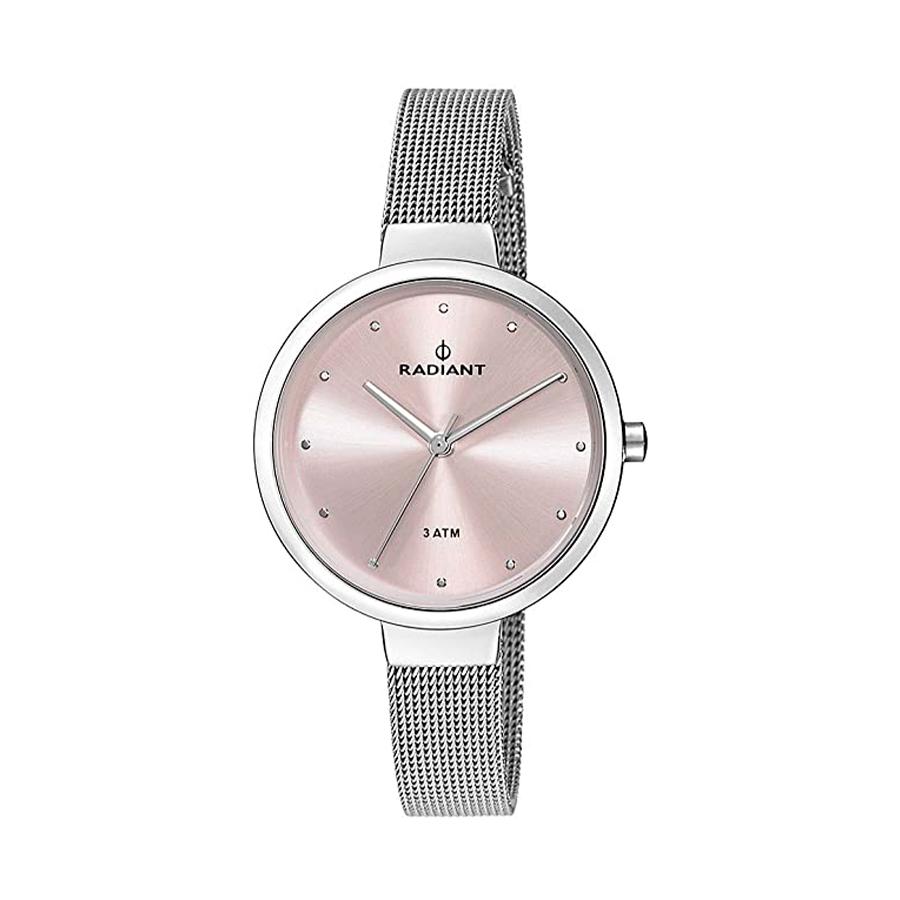 Reloj Radiant North Star Mujer RA416201 Acero esfera rosada y correa malla milanesa plata