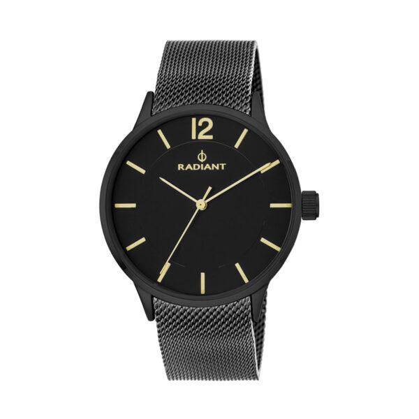Reloj Radiant North Week Hombre RA418602 Acero negro con esfera negra y detalles dorados