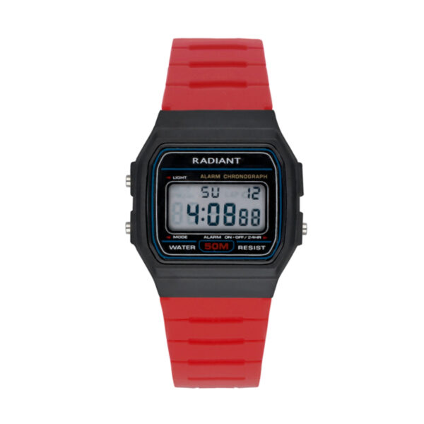 Reloj Radiant Osiac Unisex RA561602 Caja resina negra y correa caucho rojo