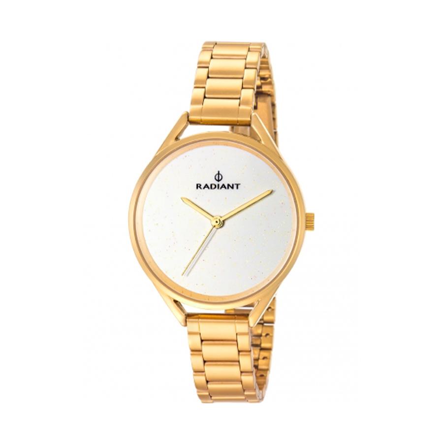 Reloj Radiant Starlight Mujer RA432206 Acero dorado con esfera blanca y efecto glitz