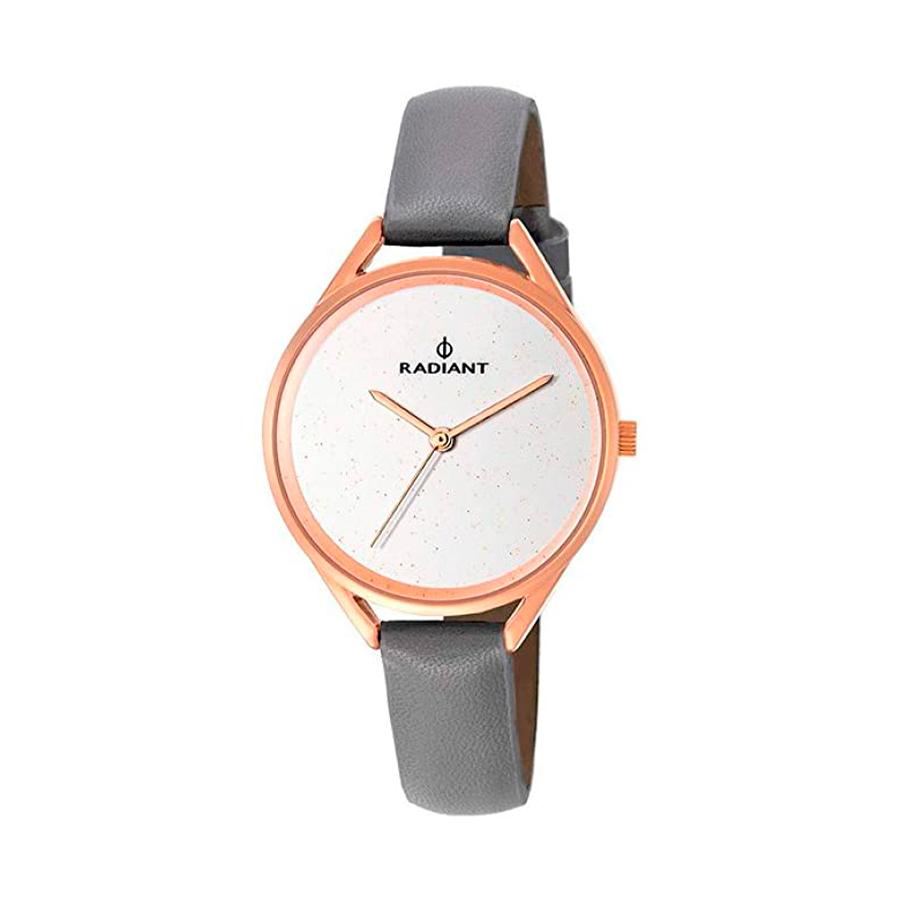 Reloj Radiant Starlight Mujer RA432602 Acero rosado con esfera decorada efecto glitz y correa piel gris