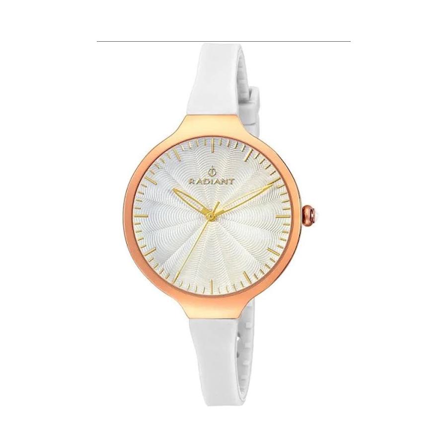 Reloj Radiant Sunny Mujer RA336602 Acero dorado con esfera y correa blanca
