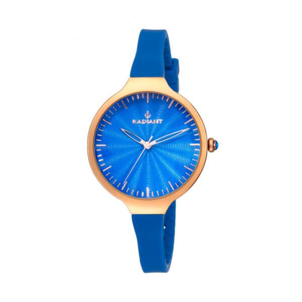Reloj Radiant Sunny Mujer RA336604 Acero rosado con esfera y correa azul
