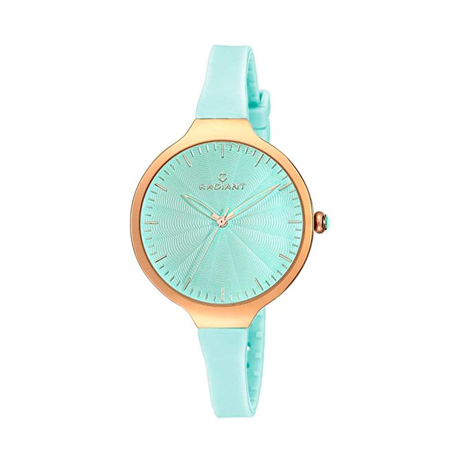Reloj Radiant Sunny Mujer RA336605 Acero dorado con esfera y correa azul