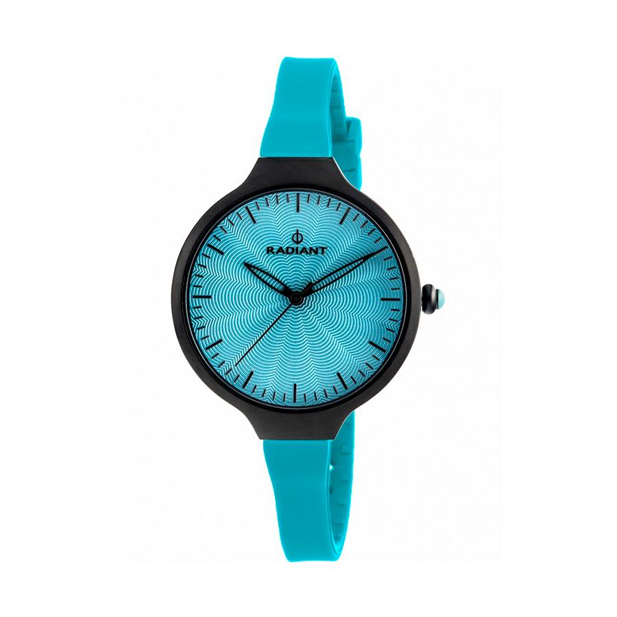 Reloj Radiant Sunny Mujer RA336610 Acero negro con esfera y correa azul