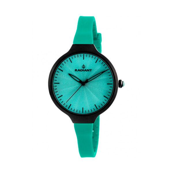 Reloj Radiant Sunny Mujer RA336611 Acero negro con esfera y correa verde