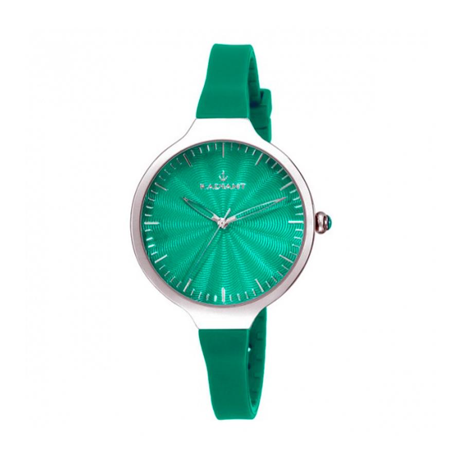 Reloj Radiant Sunny Mujer RA336615 Acero plata con esfera y correa silicona verde