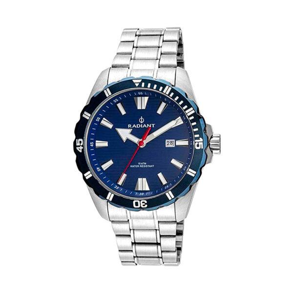 Reloj Radiant Tagrad Hombre RA480202 Acero con esfera y bisel azul con aguja roja