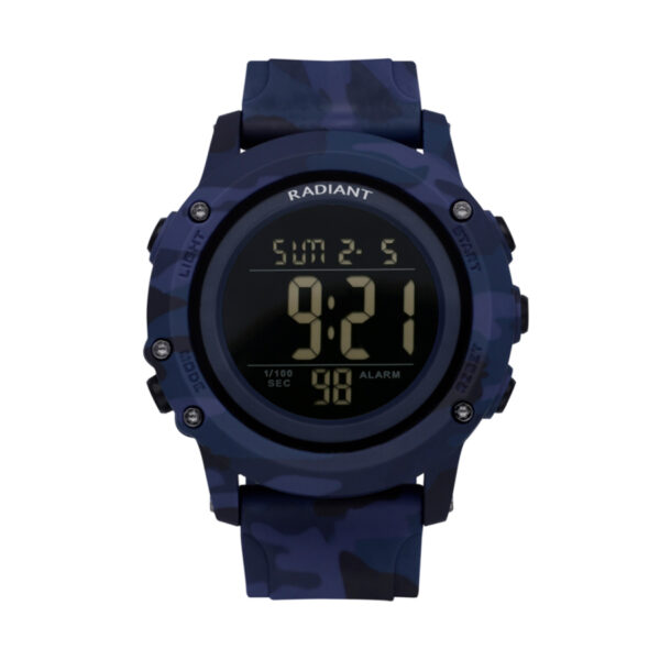 Reloj Radiant Tinu Hombre RA562603 Digital deportivo efecto estampado militar en tonos azules