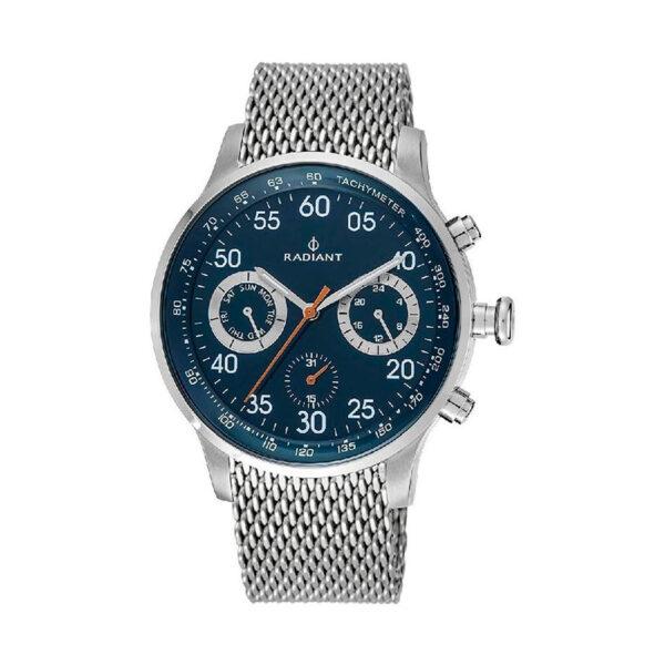 Reloj Radiant Tracking Hombre RA444605 Acero con esfera azul y correa malla milanesa acero