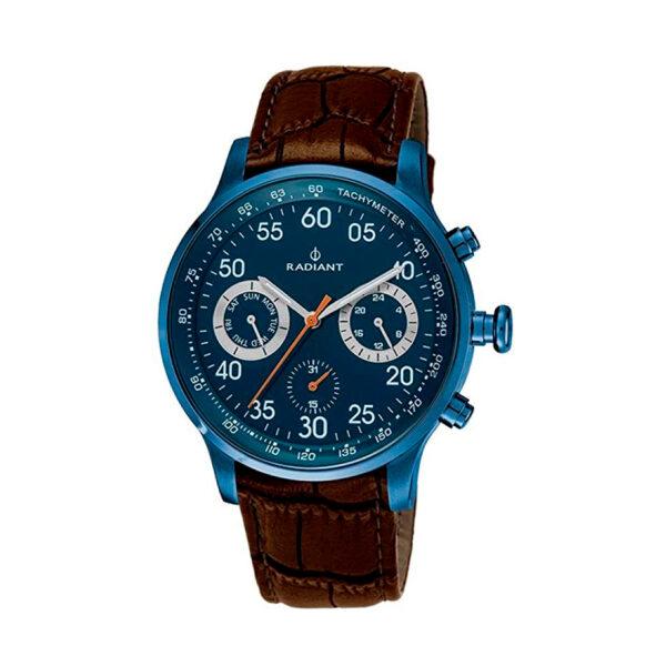 Reloj Radiant Tracking Hombre RA444607 Acero azul con esfera azul y detalles blancos y rojos