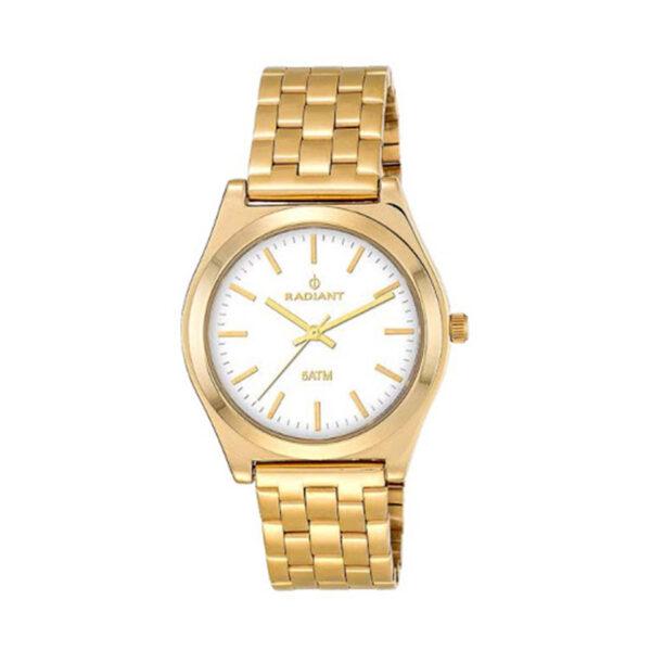 Reloj Radiant Trendy Mujer RA378202 Acero dorado con esfera blanca