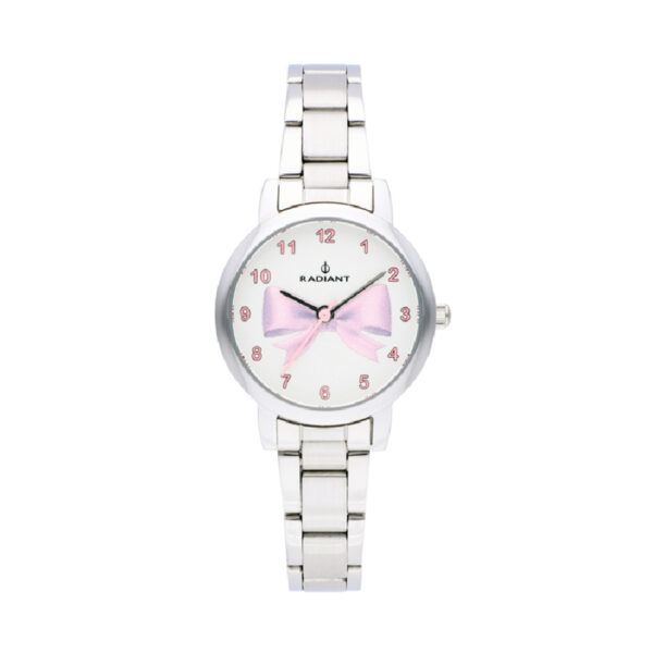 Reloj Radiant Valentina Mujer RA497201 Acero esfera blanca decorada infantil rosa