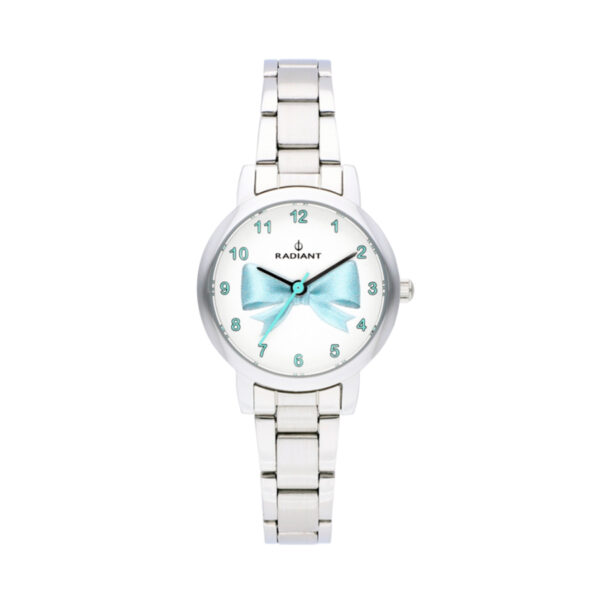 Reloj Radiant Valentina Mujer RA497202 Acero esfera blanca decorada infantil azul
