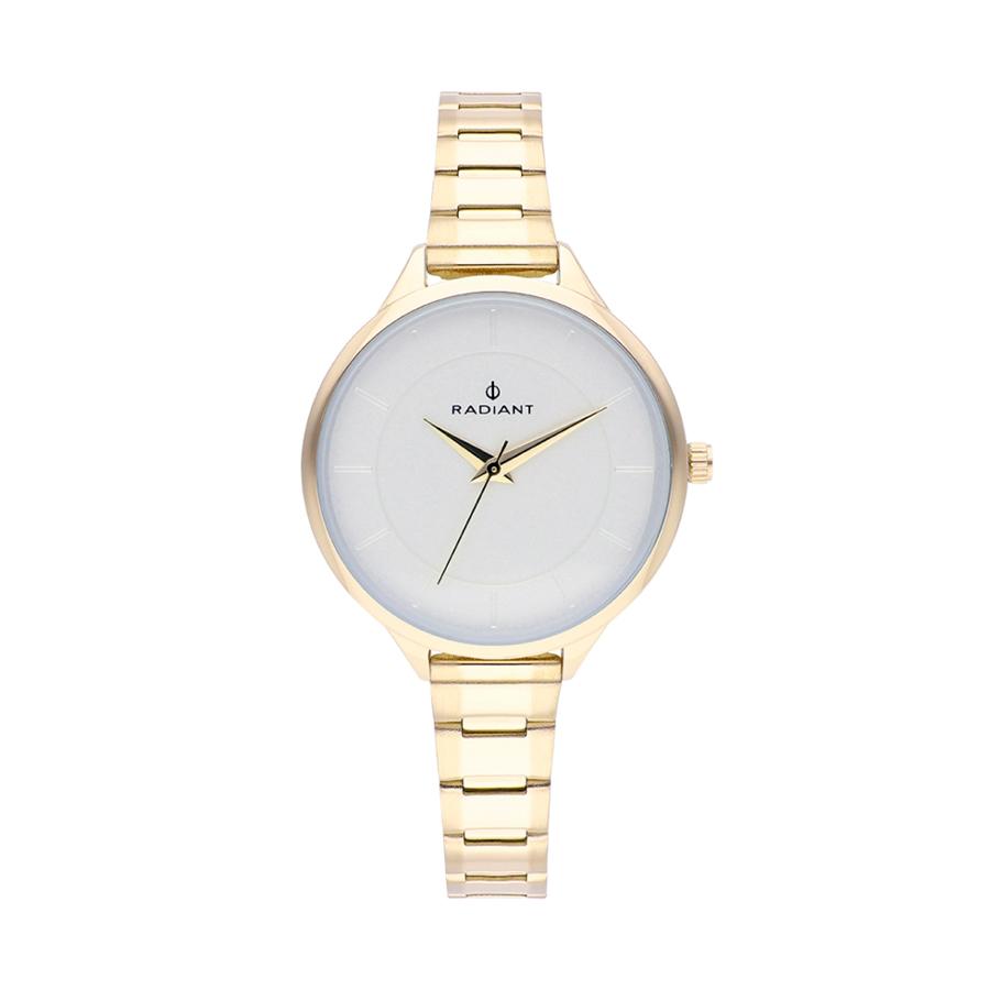 Reloj Radiant Venus Mujer RA511205 Acero esfera blanca con detalles dorados