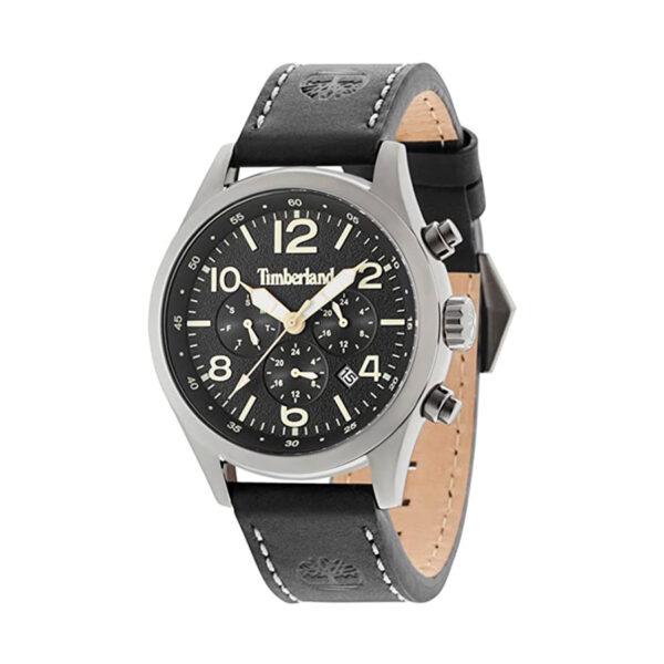 Reloj Timberland Ashmont Hombre 15249JSU-02 Esfera negra correa piel negra